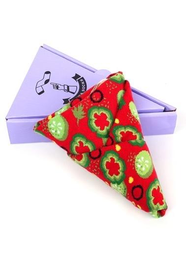 Socks+Stuff Dilim Veggie Pizza Çorap Kırmızı